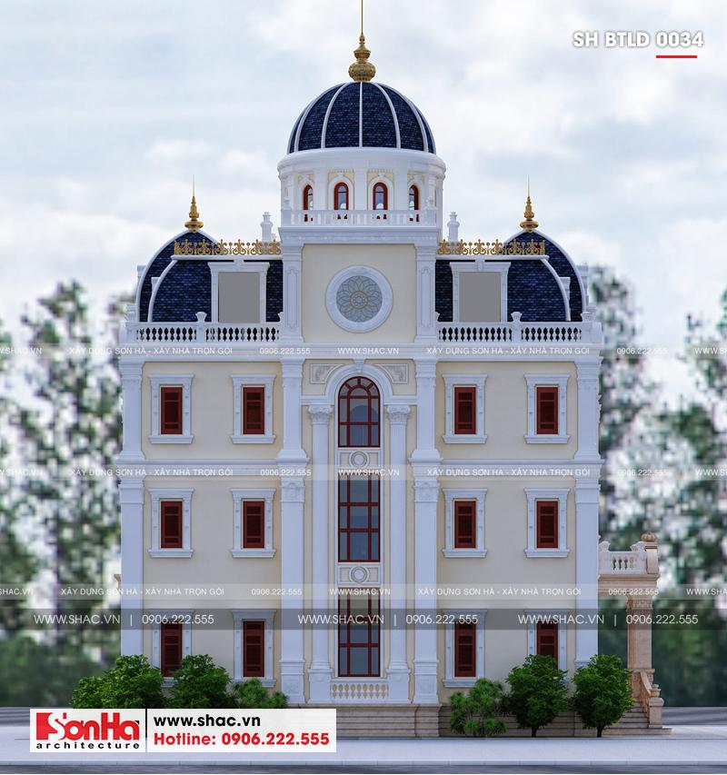 Xuất hiện biệt thự lâu đài 4 tầng đẹp nhất Việt Nam tại Hải Dương – SH BTLD 0034 4