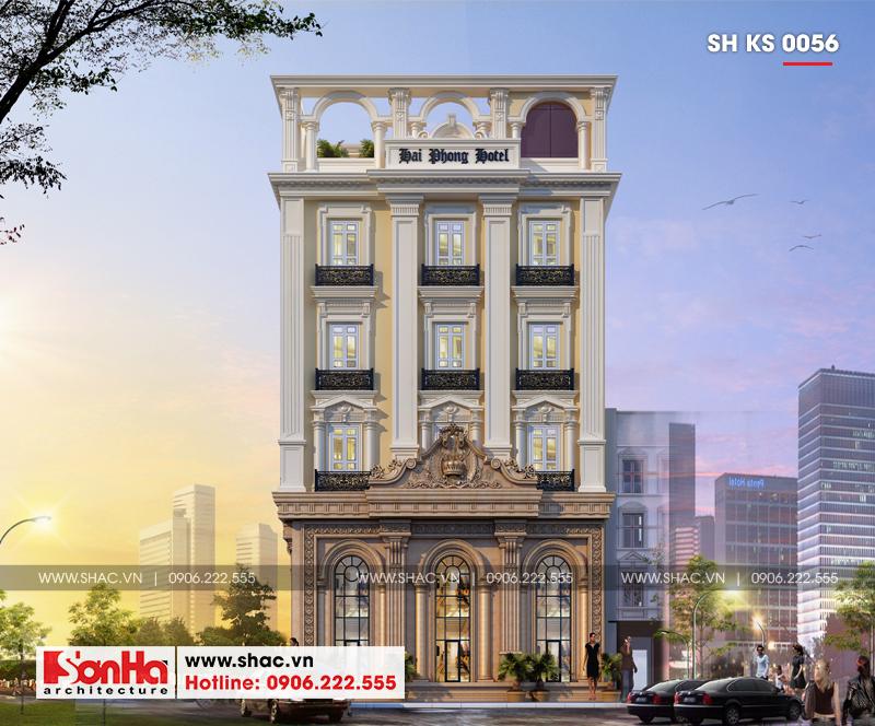 Thiết kế khách sạn 3 sao tân cổ điển tại Hải Phòng - SH KS 0056 5