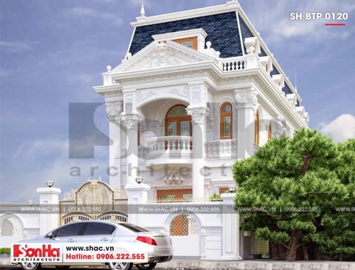 4 Mẫu kiến trúc mặt tiền biệt thự cổ điển đẹp tại cần thơ sh btp 0120
