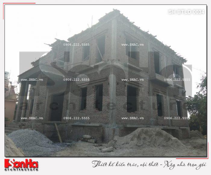 5 Ảnh thực tế thi công biệt thự lâu đài cổ điển tại hải dương sh btld 0034