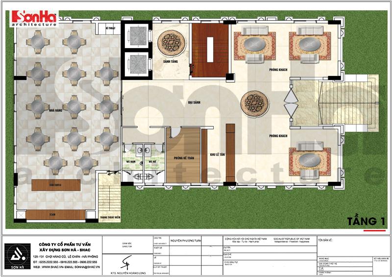 Thiết kế khách sạn tân cổ điển 3 sao 7 tầng 408m2 tại Vĩnh Phúc – SH KS 0057 5