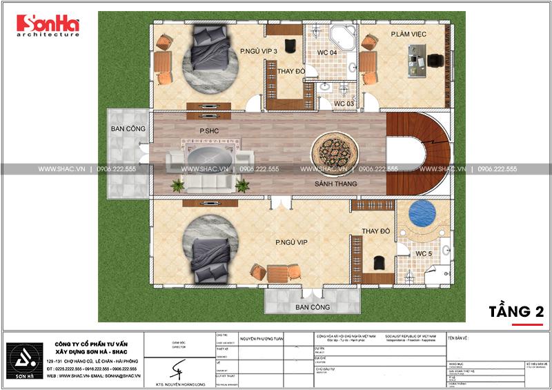 Không gian đáng sống của biệt thự lâu đài 3 tầng 239m2 tại Hải Phòng – SH BTLD 0035 5
