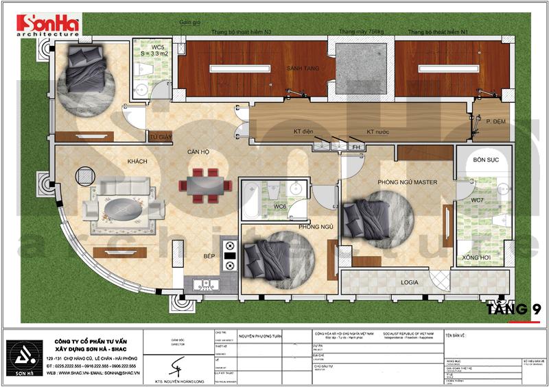 Khách sạn 3 sao tân cổ điển kết hợp căn hộ cho thuê tại Đà Nẵng – SH KS 0059 5