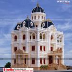 5 Thiết kế kiến trúc biệt thự lâu đài 2 mặt tiền tại hải dương sh btld 0034