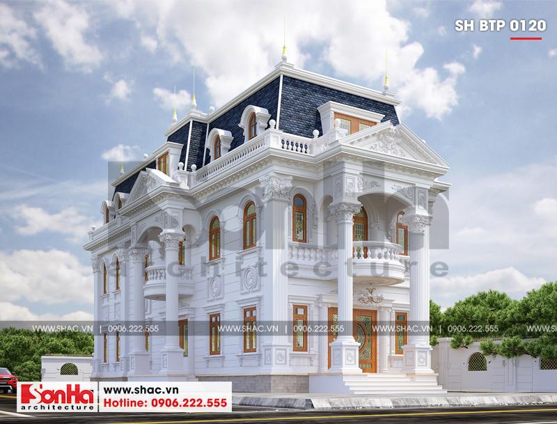 Lộ diện biệt thự cổ điển 3 tầng diện tích 10,3x28,6m tại Cần Thơ – SH BTP 0120 5