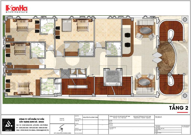 Thiết kế khách sạn 3 sao tân cổ điển tại Hải Phòng - SH KS 0056 8