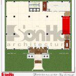 6 Mặt bằng công năng tầng 2 nhà hàng tân cổ điển tại hải phòng sh bck 0048