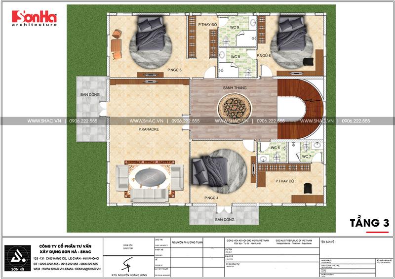 Không gian đáng sống của biệt thự lâu đài 3 tầng 239m2 tại Hải Phòng – SH BTLD 0035 6