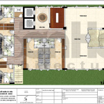 6 Mặt bằng công năng tầng lửng khách sạn 3 sao tân cổ điển Vĩnh Phúc sh ks 0057