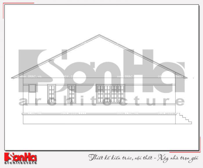 Bản vẽ mặt ngang biệt thự mini kiểu thái diện tích 150m2 thiết kế đẹp tại Quảng Ninh
