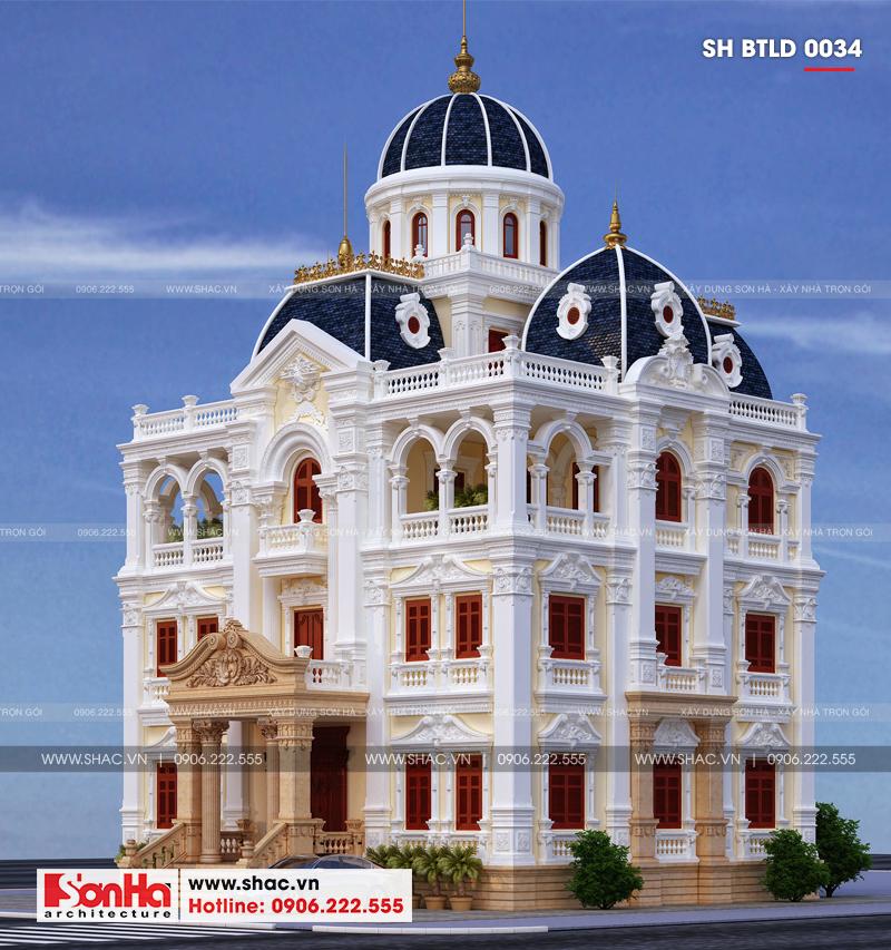 Xuất hiện biệt thự lâu đài 4 tầng đẹp nhất Việt Nam tại Hải Dương – SH BTLD 0034 6