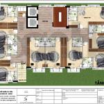 7 Mặt bằng công năng tầng 2 3 4 5 6 khách sạn đẹp tại vĩnh phúc sh ks 0057