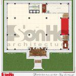 7 Mặt bằng công năng tầng 3 nhà hàng kiến trúc tân cổ điển tại hải phòng sh bck 0048