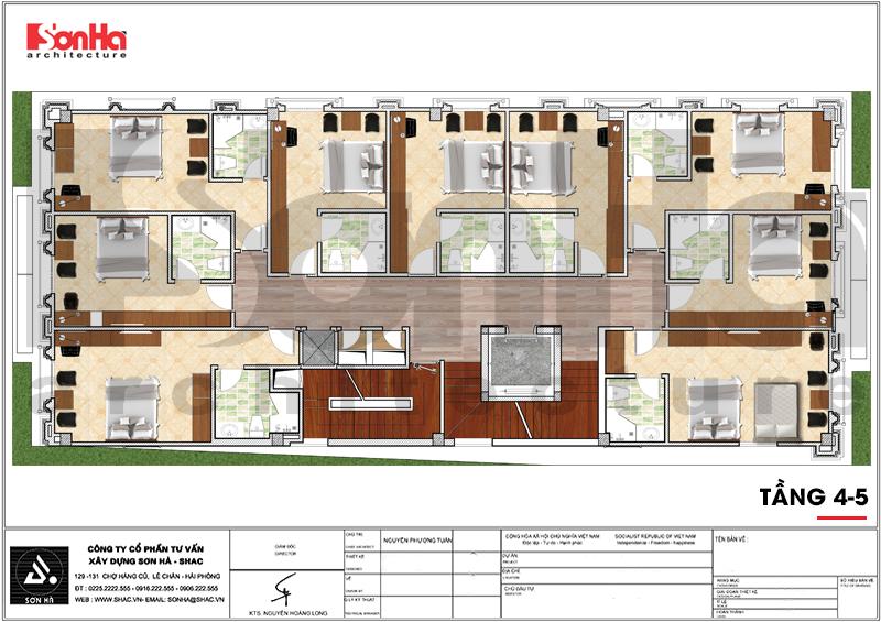 Thiết kế khách sạn 3 sao tân cổ điển tại Hải Phòng - SH KS 0056 10