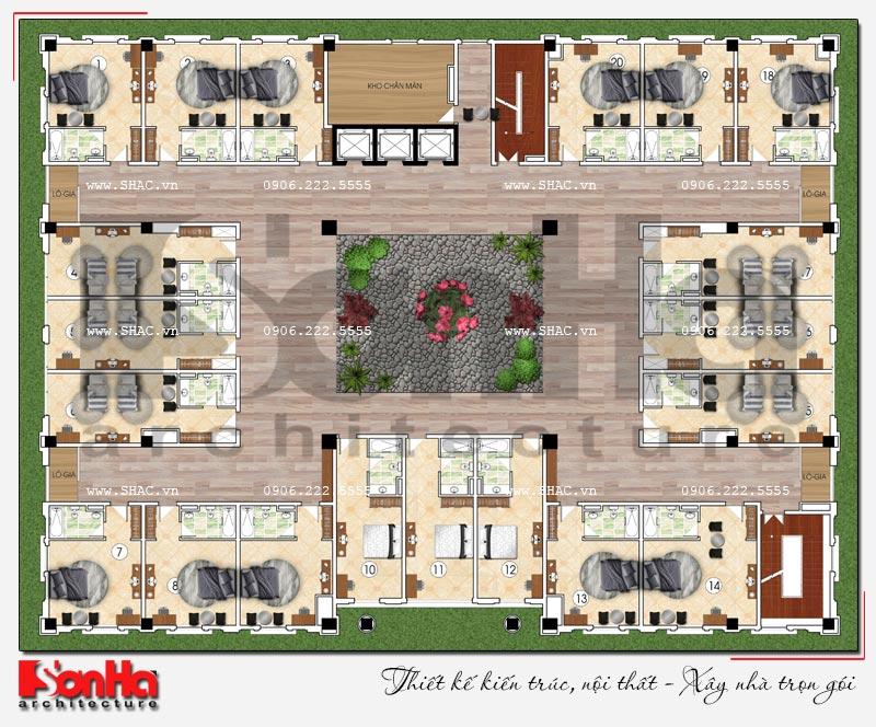 Thiết kế nhà hàng và khu dịch vụ tổng hợp tại Hải Phòng – SH BCK 0048 9