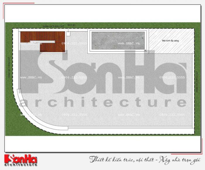 8 Mặt bằng công năng tầng mái khách sạn 3 sao đẹp tại đà nẵng