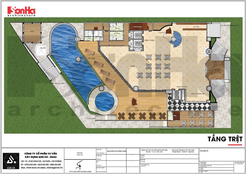 Thiết kế khách sạn hiện đại tiêu chuẩn 5 sao 1078,5m2 tại Phú Quốc - SH KS 0058 8