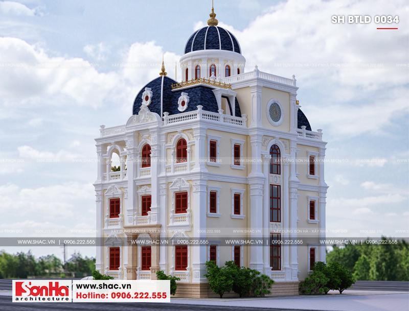 Xuất hiện biệt thự lâu đài 4 tầng đẹp nhất Việt Nam tại Hải Dương – SH BTLD 0034 8