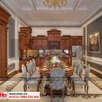 8 Mẫu nội thất phòng bếp ăn biệt thự pháp cổ điển tại cần thơ sh btp 0120