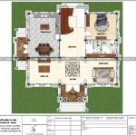 9 Mặt bằng công năng tầng 1 biệt thự lâu đài pháp tại hải dương sh btld 0034