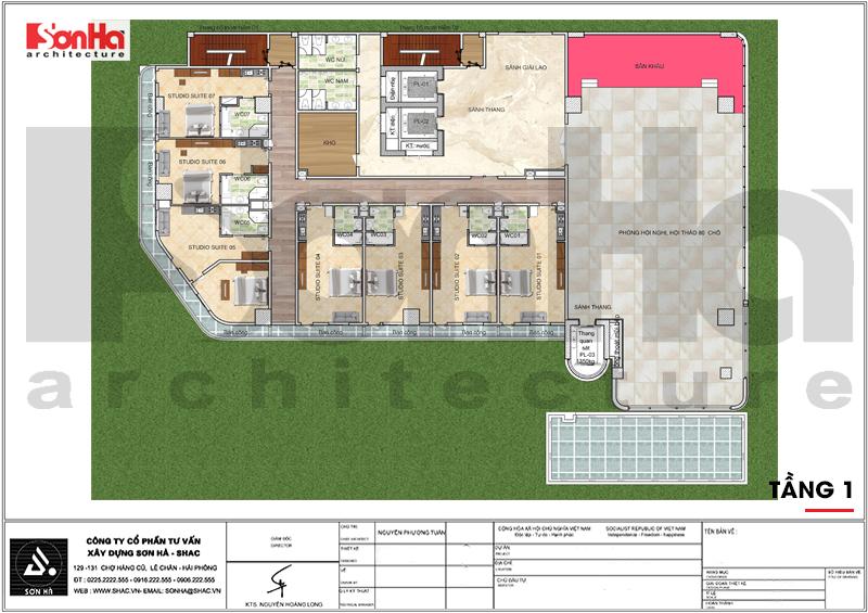 Thiết kế khách sạn hiện đại tiêu chuẩn 5 sao 1078,5m2 tại Phú Quốc - SH KS 0058 9