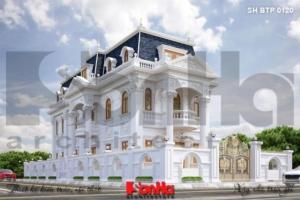 BÌA mẫu kiến trúc biệt thự pháp đẹp tại cần thơ sh btp 0120