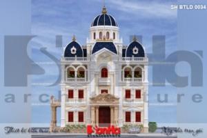 BÌA Thiết kế kiến trúc biệt thự lâu đài 2 mặt tiền tại hải dương sh btld 0034