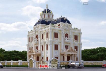 Biệt thự lâu đài 3 tầng rộng 240m2