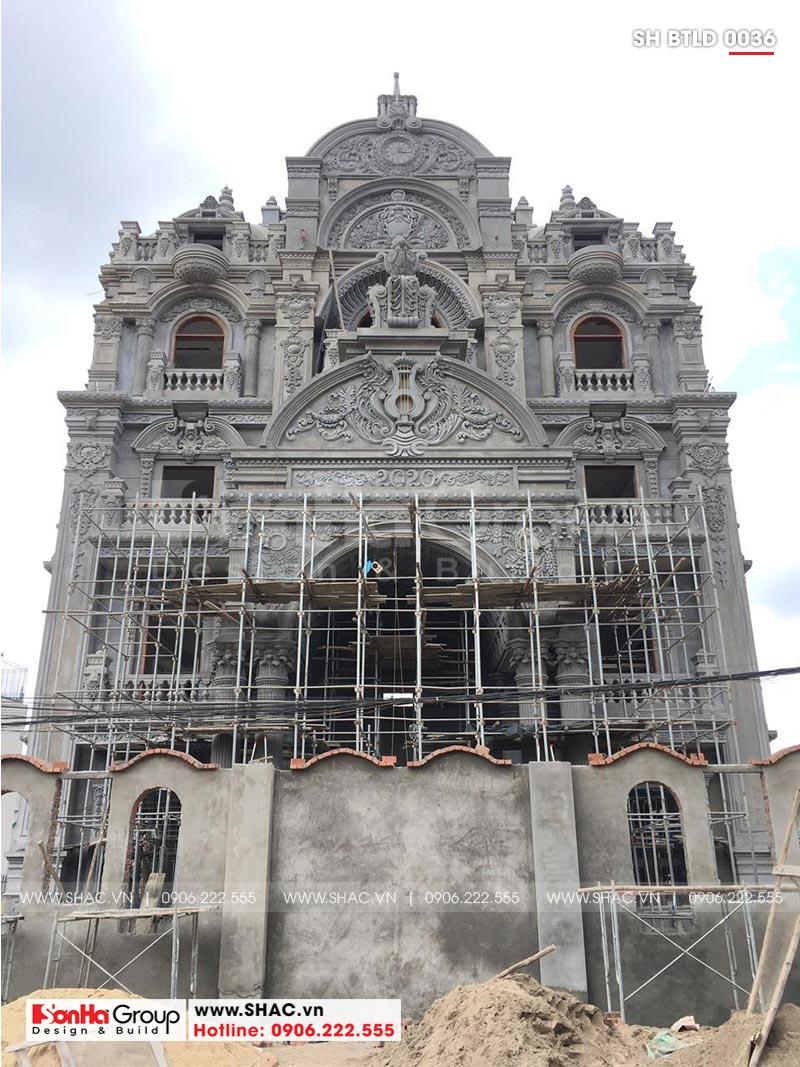 Biệt thự lâu đài 2 mặt tiền 4 tầng 15,44x15m tại Lạng Sơn – SH BTLD 0036 8
