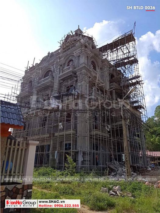 1 Ảnh thi công biệt thự lâu đài cổ điển tại lạng sơn sh btld 0036