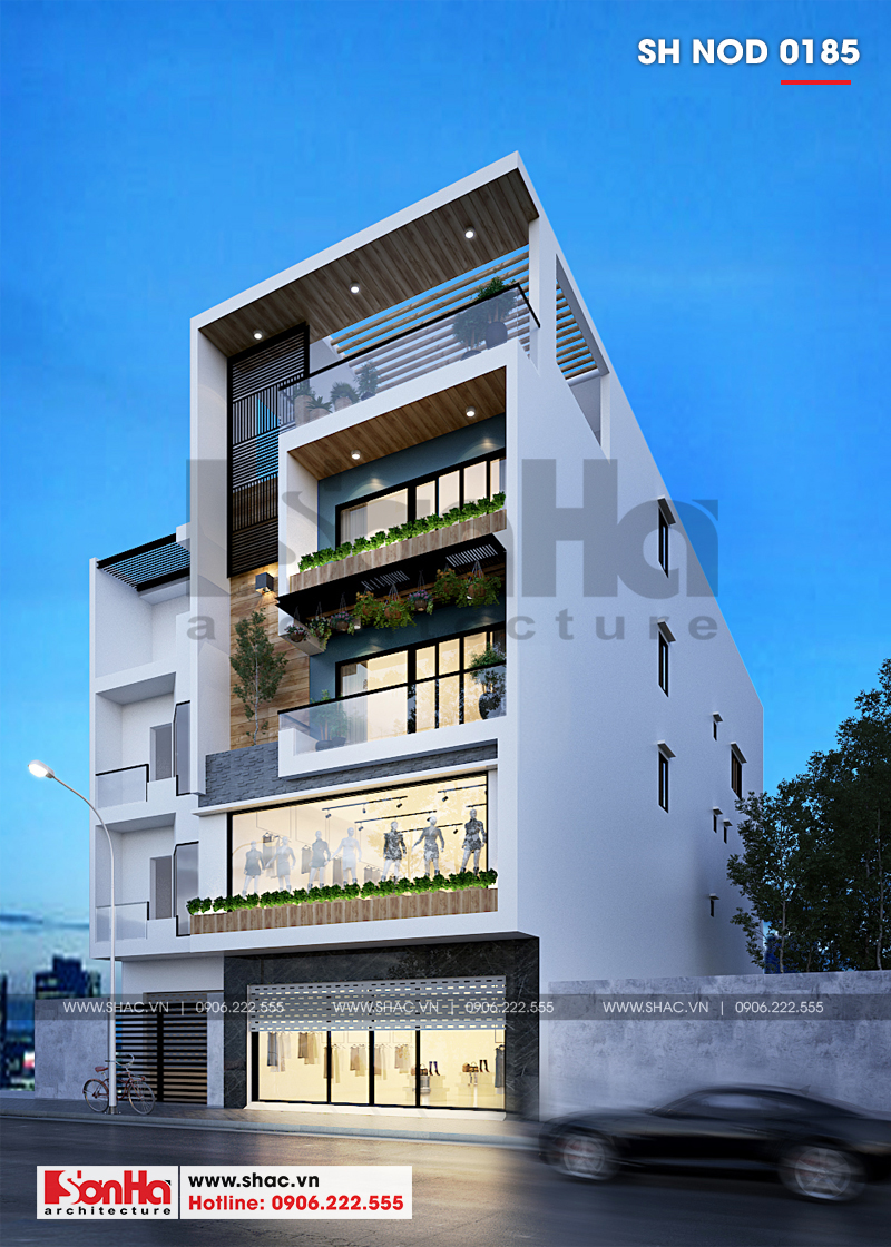 Thiết kế nhà phố hiện đại kết hợp kinh doanh 5 tầng tại Hà Nam – SH NOD 0185 2