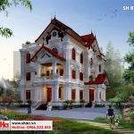 1 Mẫu thiết kế biệt thự sân vườn kiến trúc pháp đẹp tại hưng yên sh btp 0122