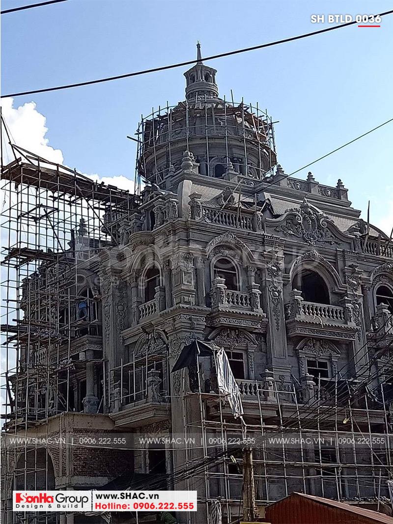 Biệt thự lâu đài 2 mặt tiền 4 tầng 15,44x15m tại Lạng Sơn – SH BTLD 0036 10