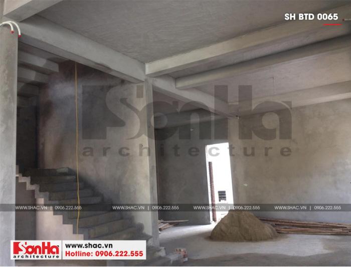 2 Ảnh thực tế thi công biệt thự hiện đại 3 tầng tại hải phòng sh btd 0065