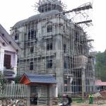 2 Ảnh thực tế thi công biệt thự lâu đài 4 tầng tại lạng sơn sh btld 0036