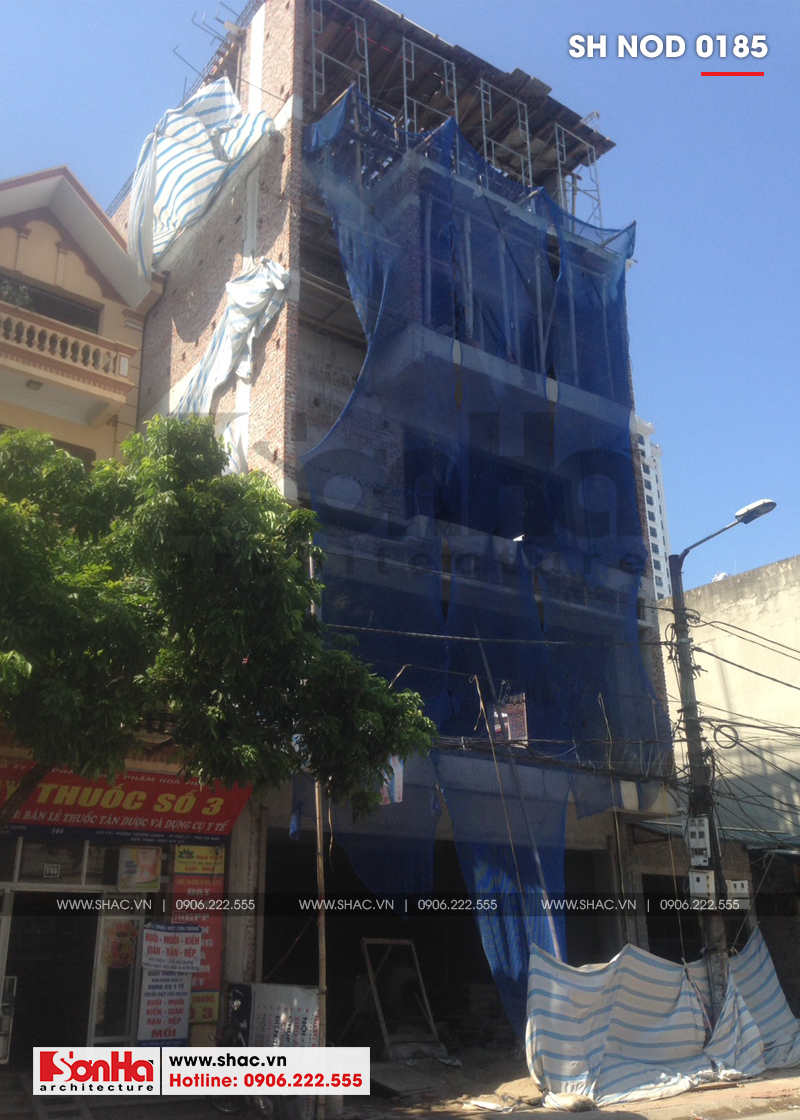 Thiết kế nhà phố hiện đại kết hợp kinh doanh 5 tầng tại Hà Nam – SH NOD 0185 13