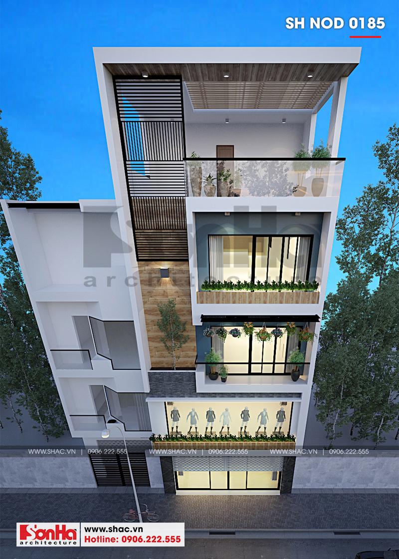 Thiết kế nhà phố hiện đại kết hợp kinh doanh 5 tầng tại Hà Nam – SH NOD 0185 3