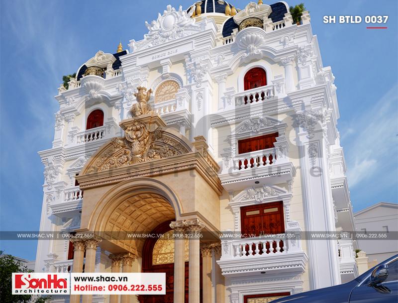 Biệt thự lâu đài 2 mặt tiền 4 tầng 15,44x15m tại Lạng Sơn – SH BTLD 0036 3
