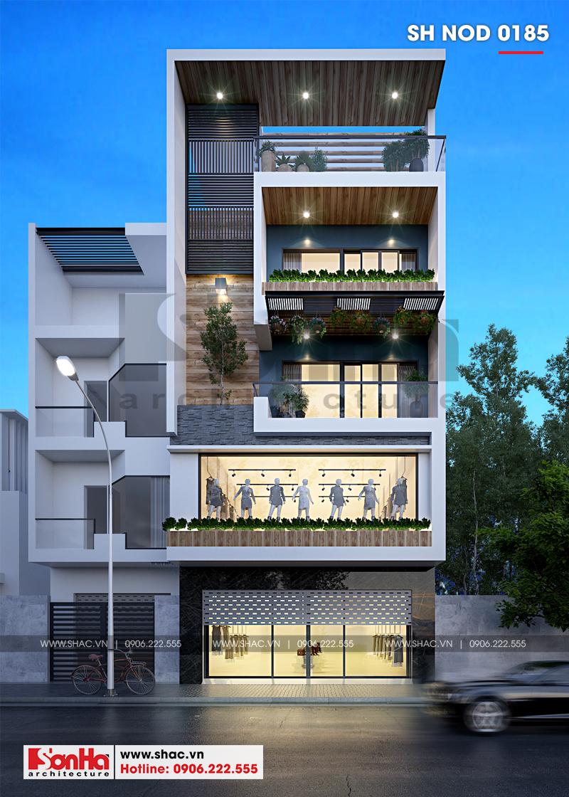 Thiết kế nhà phố hiện đại kết hợp kinh doanh 5 tầng tại Hà Nam – SH NOD 0185 1