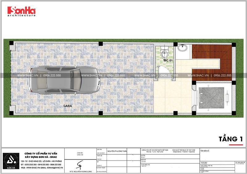 Thiết kế nhà phố hiện đại mặt tiền 4m 7 tầng tại Hà Nội – SH NOD 0186 3