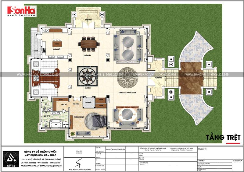 Nổi da gà với biệt thự lâu đài kiểu Pháp 4 tầng 459,27m2 tại Sài Gòn – SH BTLD 0037 3