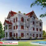 3 Thiết kế kiến trúc biệt thự pháp có bể bơi đẹp tại hưng yên sh btp 0122