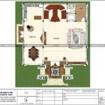 4 Mặt bằng công năng tầng 1 biệt thự lâu đài pháp tại lạng sơn sh btld 0036