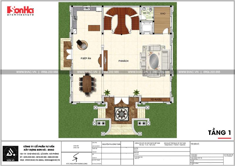 Biệt thự lâu đài 2 mặt tiền 4 tầng 15,44x15m tại Lạng Sơn – SH BTLD 0036 4