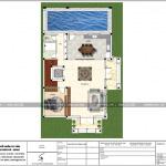 4 Mặt bằng công năng tầng 1 biệt thự pháp 3 tầng đẹp tại hải phòng sh btp 0121