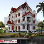 4 Mẫu kiến trúc biệt thự mái thái 3 tầng tại hưng yên sh btp 0122