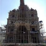 5 Ảnh thi công biệt thự lâu đài mặt tiền 15,44m tại lạng sơn sh btld 0036