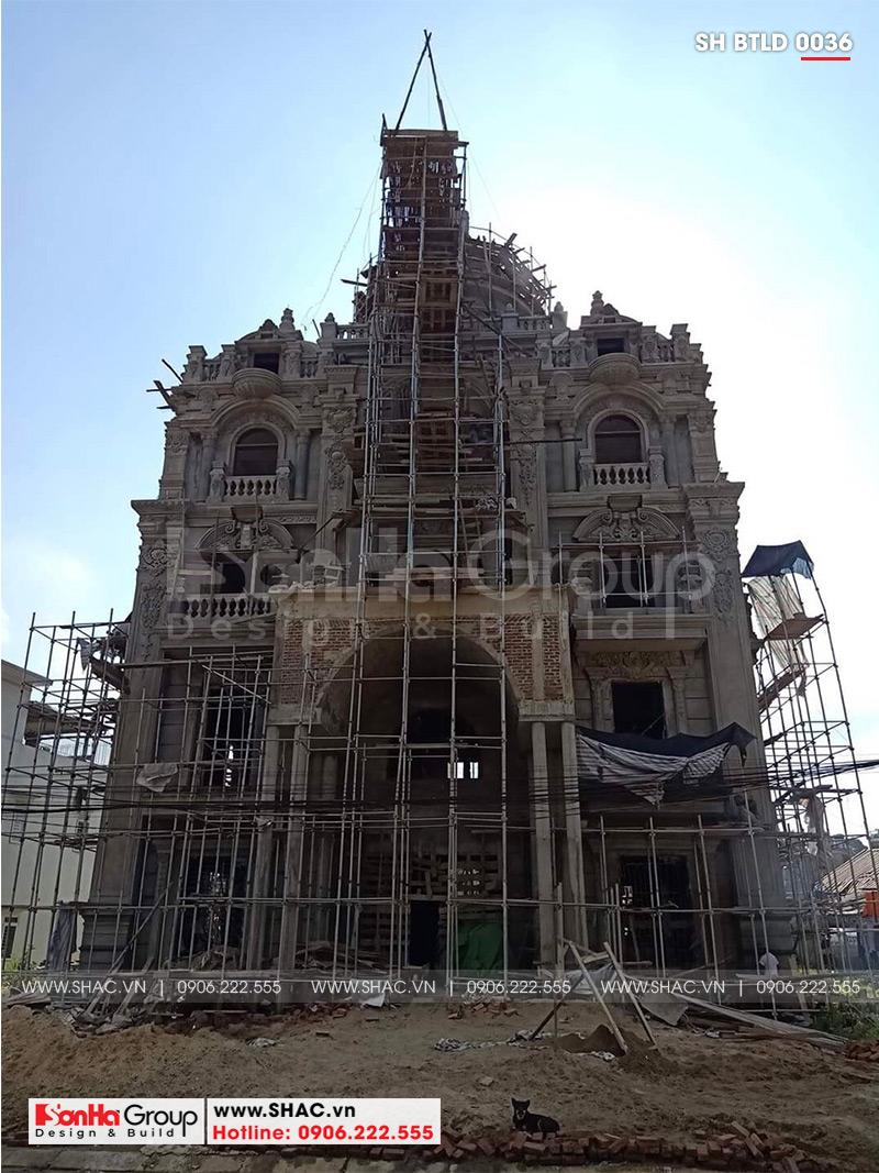 Biệt thự lâu đài 2 mặt tiền 4 tầng 15,44x15m tại Lạng Sơn – SH BTLD 0036 12