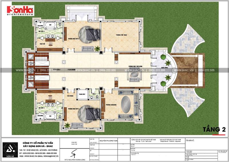 Nổi da gà với biệt thự lâu đài kiểu Pháp 4 tầng 459,27m2 tại Sài Gòn – SH BTLD 0037 5