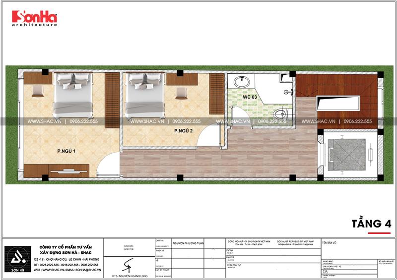 Thiết kế nhà phố hiện đại mặt tiền 4m 7 tầng tại Hà Nội – SH NOD 0186 5